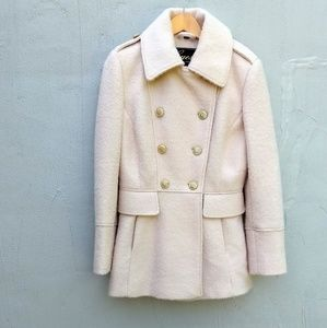 Guess ivory wool pea coat
